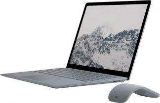microsoft surface laptop 1st gen platinum with arc mouse